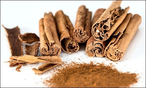 Cinnamon - obtained from the inner bark of several tree species.