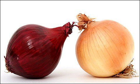 Red and white onion.