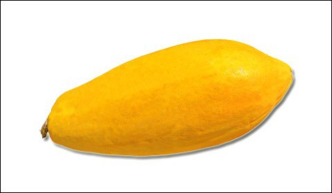 Whole papaya fruit.