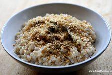 healthy vegetarian simple brown rice dish