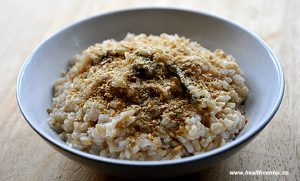 healthy vegetarian simple brown rice dish