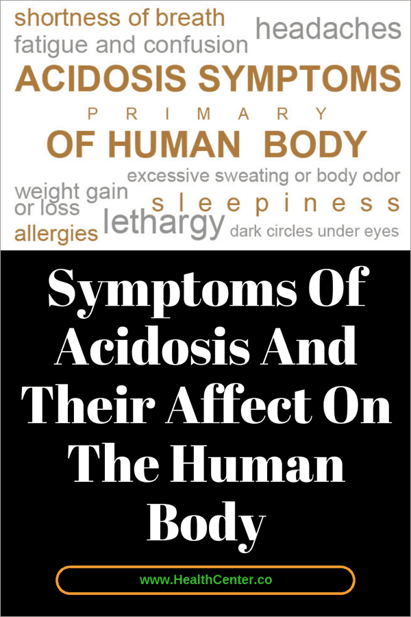 Symptoms Of Acidosis And Their Affect On The Human Body
